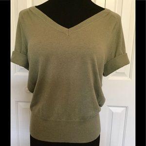 Talbots Sweaters - Talbots Short Sleeve Olive Green Sweater
