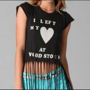 Price ✂Wildfox Woodstock Fringe Crop