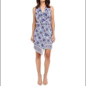 NWT ADELYN RAE Asymmetrical Print Dress.