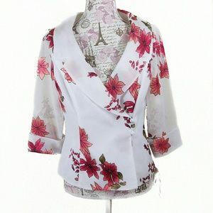 Alex Evenings Jackets & Blazers - Alex Evenings Floral Blazer