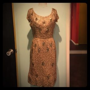 Gorgeous true Vintage gold sequin dress