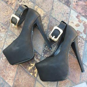 Glaze Shoes - Glaze   Black Heels