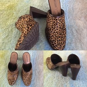 Matisse Shoes - NWOT Matisse leather s.6 1/2 heels w/ animal print