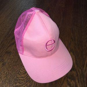 Pink E Trucker Hat