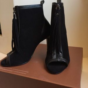 Shoes - Peep toe ankle boots