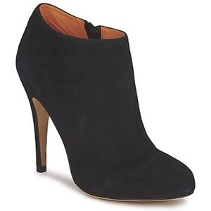 Buffalo London Black Suede Ankle Boots High Heels
