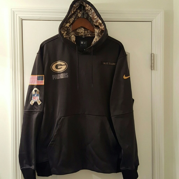 size 40 080af 36227 Green Bay Packers Gray Military Unisex XL Hoodie