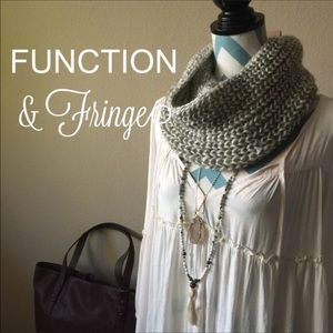 Function & Fringe Accessories - Function & Fringe infinity scarf knot crochet