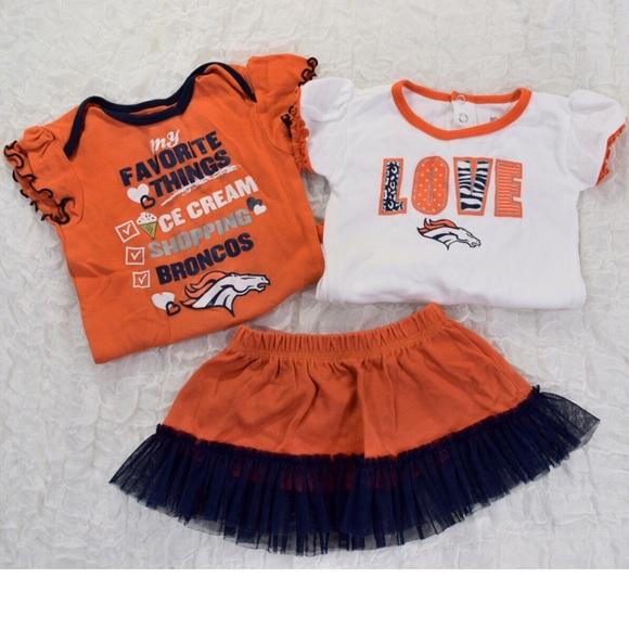 6b77c883 NFL Team Apparel Matching Sets | Baby Girl Denver Broncos Onesies ...