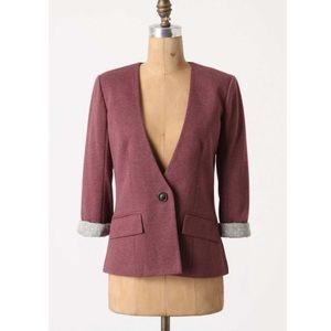 Anthropologie Jackets & Blazers - Anthropologie Cartonnier Sans Collar Jacket