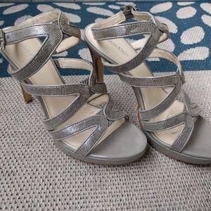 Calvin Klein strappy open high heels