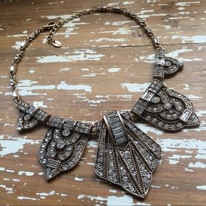 Zara Jewelry - New🔹Zara Deco Antique Gold & Crystals Necklace
