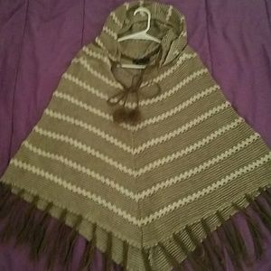 BCBG Poncho with Hood
