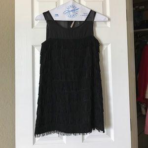 a'gaci Dresses & Skirts - Like New Little Black Dress with Fringe