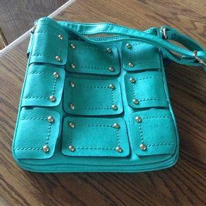Bright green crossbody bag