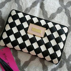 Betsey Johnson Handbags - BETSEY JOHNSON Lattice woven  clutch NWT