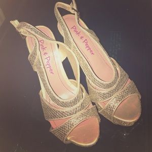 Pink & Pepper Shoes - Sparkly Heels