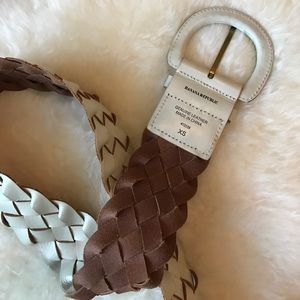 Banana Republic Accessories - Wide woven leather belt
