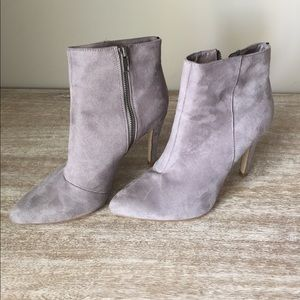 H&M gray suede booties 8