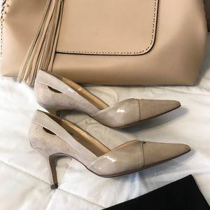 "Unisa Shoes - Unisa Heels 2"", in tan and tan suede"