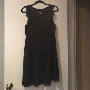 Elle Dresses & Skirts - ELLE Black Ruffled Dress
