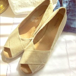 Merona Shoes - Sparkling Gold Wedges