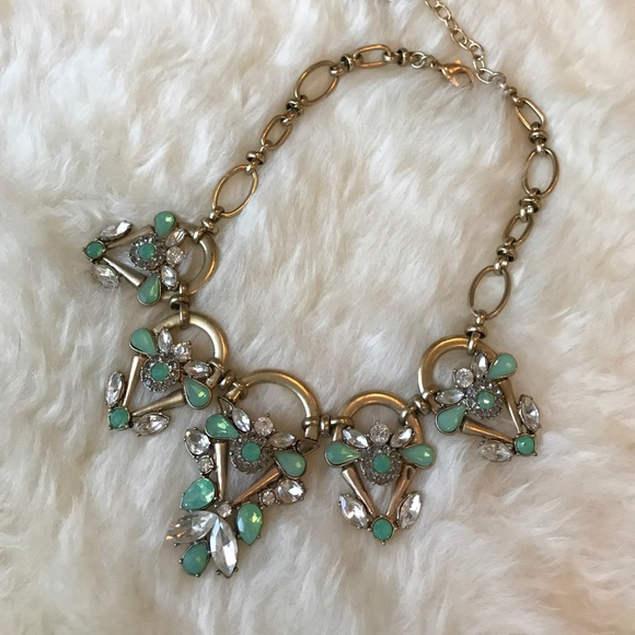 Jewelry - Gold and turquoise statement necklace
