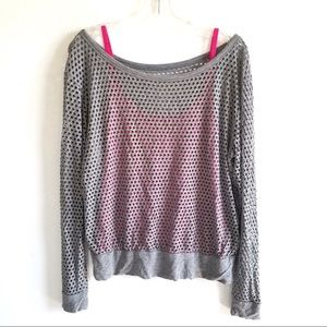 Bailey 44 Tops - Bailey 44 Gray Mesh 2 in 1 Top