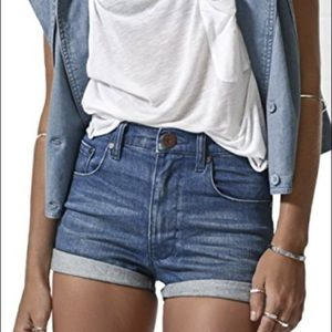 One Teaspoon harlet shorts in blue sabbath  NWT
