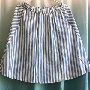  NWT Modcloth Blue and White circle skirt!!!