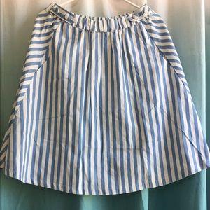  NWT Modcloth Blue and White circle skirt!!!