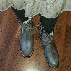 Bed Stu Shoes - Beautiful Bed|Stu Craven Grey Zip up Boots Sz 9