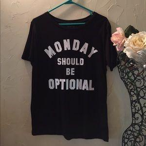 "Graphic T Shirt ""Monday"" size Large"