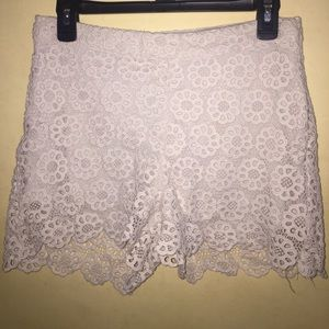 iris & ivy Pants - Cream floral shorts