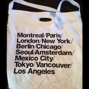 American Apparel Handbags - AA oversized cities tote in black &white
