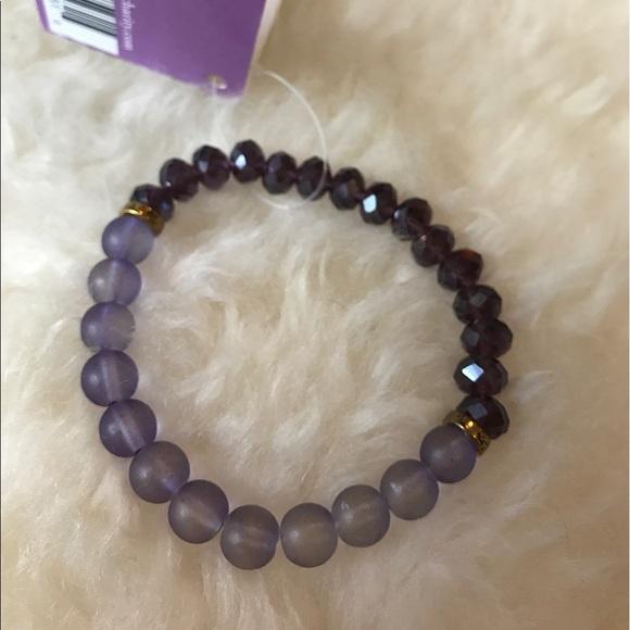 Jewelry - Purple crystal bracelet