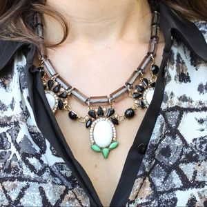 Statement drop necklace
