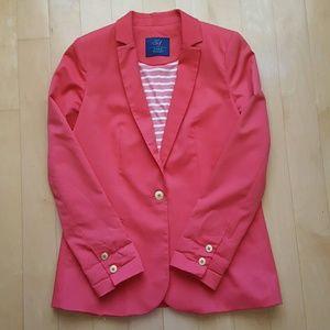 Zara Coral Buttoned Blazer