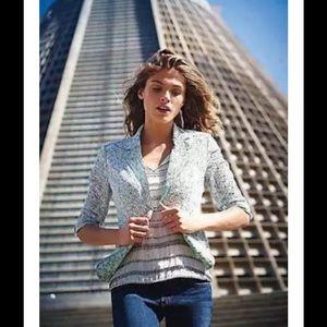 Anthropologie Jackets & Blazers - Anthropologie Elevated Eyelet Blazer Mint Floral