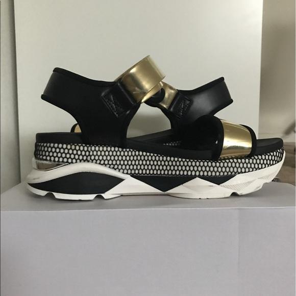 69 aldo shoes aldo black and gold platform sneaker