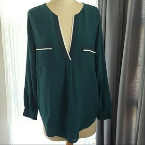Joie Tops - Joie Emerald Green V Neck Blouse