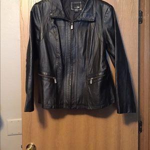 East 5th Jackets & Blazers - Black leather jacket
