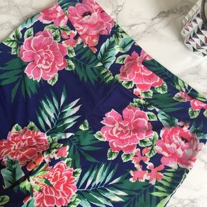 Fashionomics Pants - Tropical Floral Print Boho Palazzo Pants