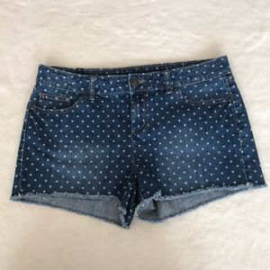LC Lauren Conrad Pants - LC Lauren Conrad Polka Dot Denim Shorts