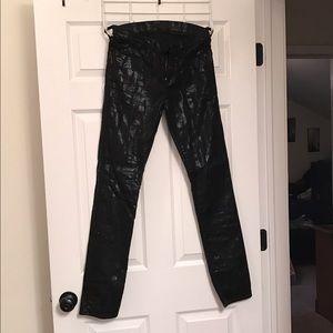 Rock & Republic Pants - Size 6 rock & republic black metallic pants