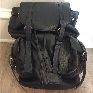 Topshop Black Backpack