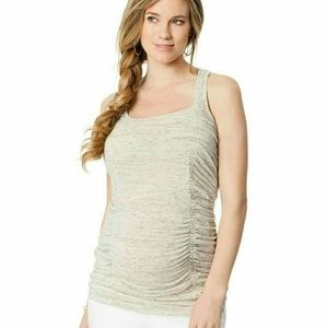 Wendy Bellissimo Tops - Wendy bellissimo maternity racerback ruched tank