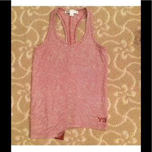 Y-3 Tops - Y-3 Red/White Stripe Tank Top Size XS