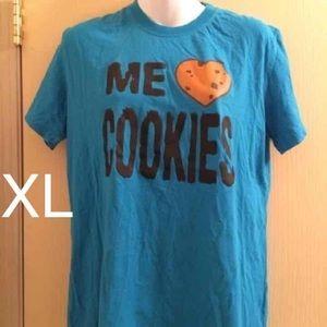 Sesame Street Tops - (Juniors XL) Sesame Street Cookie Monster T-Shirt
