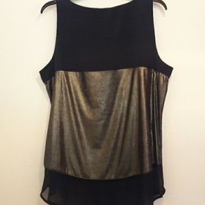 Worthington Tops - Gold & Black Top